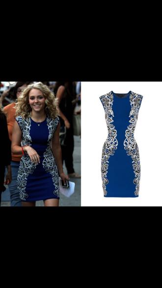 dress blue dress the carrie diaries carrie bradshaw
