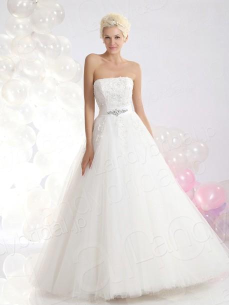 dress ウェディングドレス aライン ビスチェ
