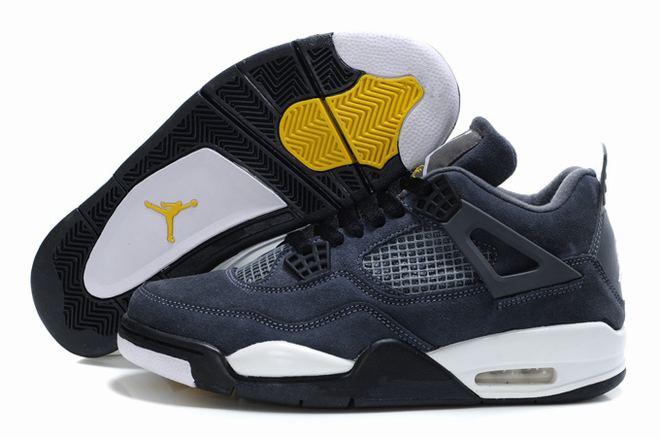 Mens Cool Grey Air Jordan 4 Chicago Bulls Michael Sneakers -  Jordan 4 IV Mens
