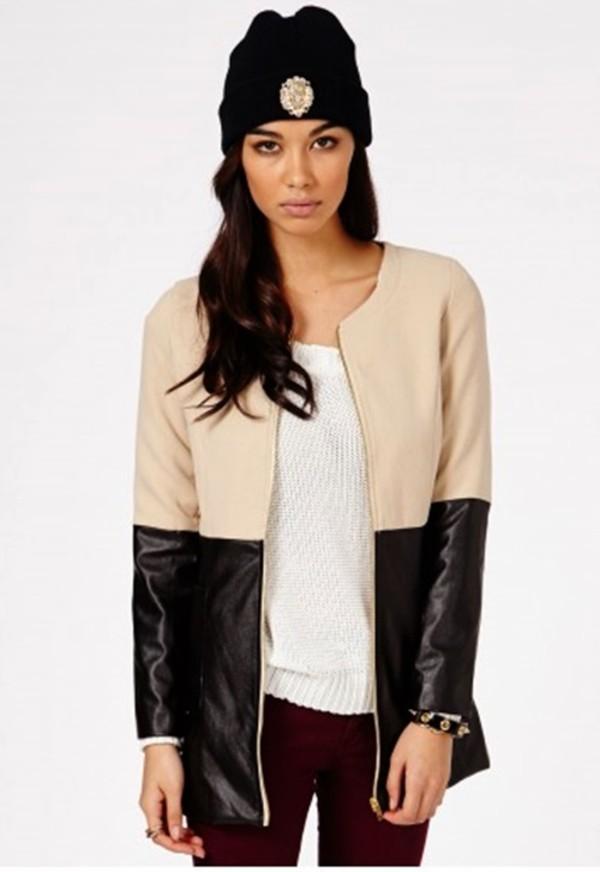 coat winter outfits leather jacket jacket rihanna beige dress sweater hat