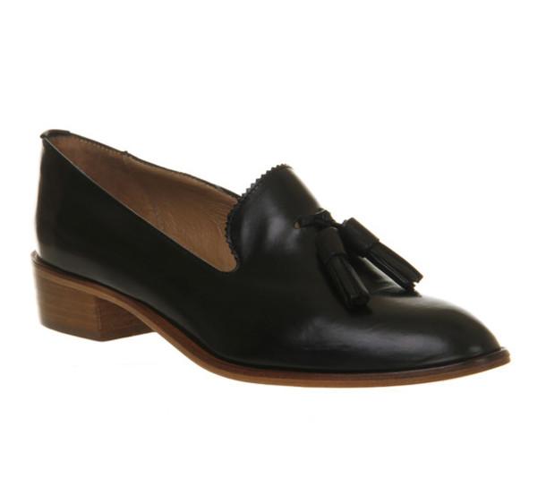 shoes black shoes black loafers tassle loafers tassles