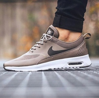 shoes nike sneakers nike colour :iron/dark storm-white air max beige sneakers low top sneakers