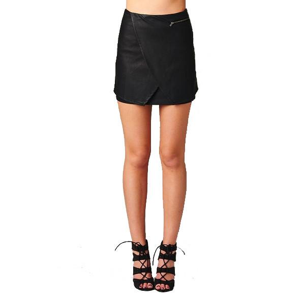 Bad Habits Leather Skirt | Vanity Row