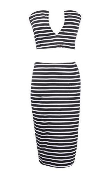 Lina Vee Crop Top Skirt Set | Outfit Made