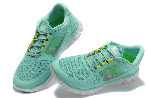 Nike Free 5 0 V3 Womens Running Shoes Mint Green Silver Size 4 | eBay