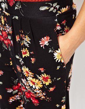 ASOS Petite | ASOS PETITE Exclusive Floral Peg Pants at ASOS