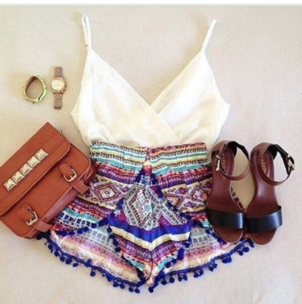 shorts short blouse