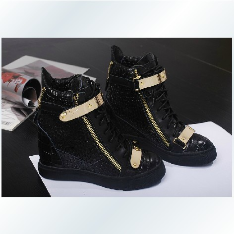 Free Shipping New Arrival GZ High Top Fashion Wedges Sneakers For Women Crocodile Pattern Shoes GZ Sneakers Eu Size 35 41-in Sneakers from Shoes on Aliexpress.com