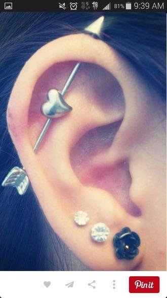jewels love earings silver piecing peri.marie