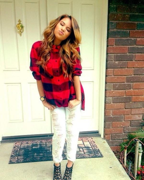 jeans jasmine villegas ripped jeans white shirt