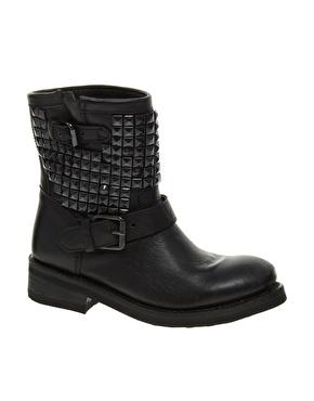 Ash | Ash Titan Bis Black Studded Biker Boots at ASOS