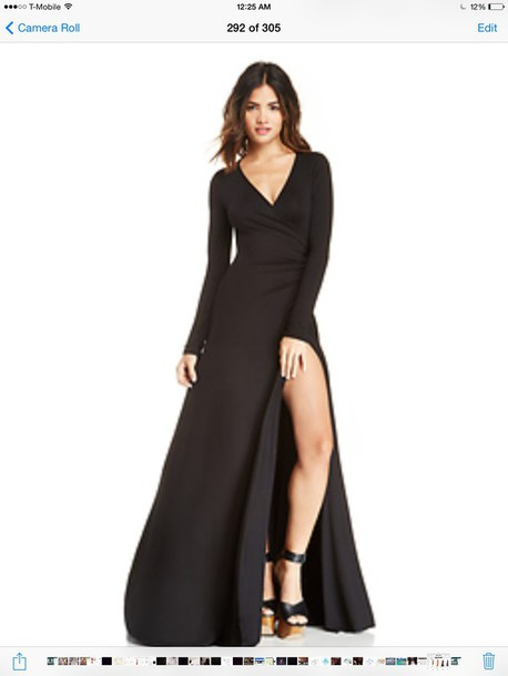 dress essential black maxi