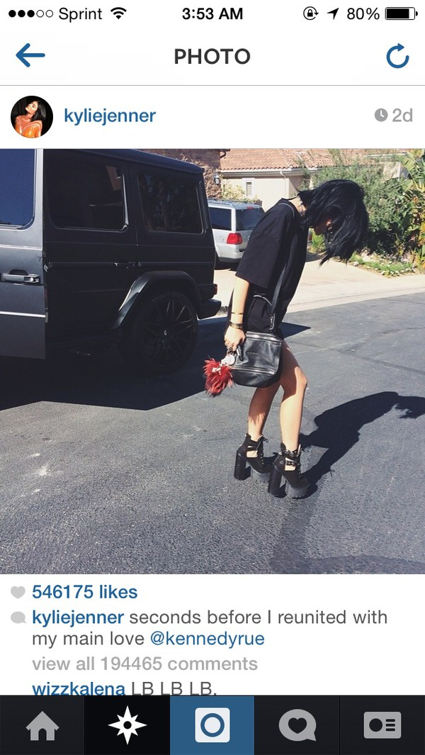 kylie jenner black bag shoes dress
