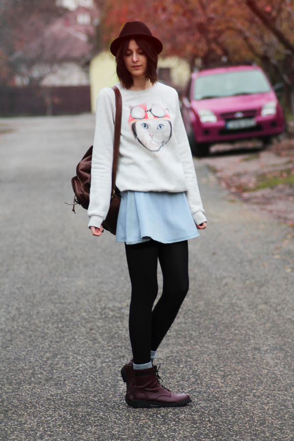mes memos sweater shoes hat
