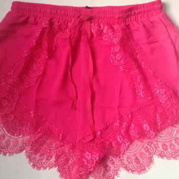 Hot Pink Shorts — Bib   Tuck on Wanelo