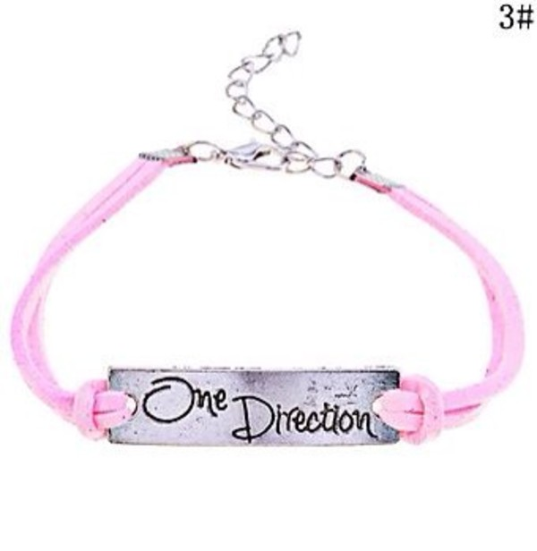 jewels pink bracelet one direction one direction bracelet