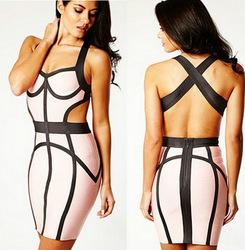 Hl bandage dress w270 band abendkleid eng anliegende Heimkehr party kleid