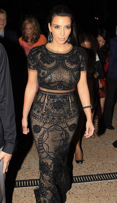 Get Kim Kardashian's Emilio Pucci Embellished Runway Top and Skirt, Worn at Diddy's Cannes Yacht Party | urbansybaris