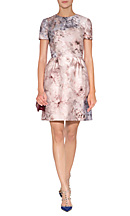 Cotton-Silk Flower Printed Dress from VALENTINO | Luxury fashion online | STYLEBOP.com