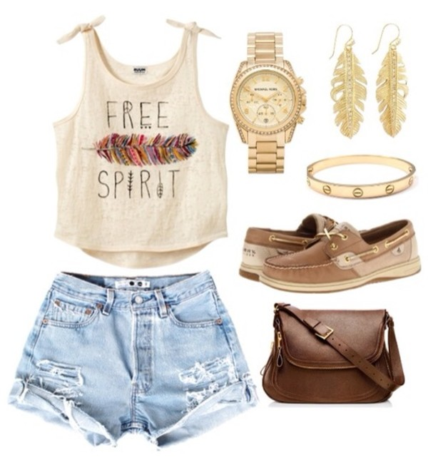 t-shirt crop tops feathers beige free spirit shoes shorts