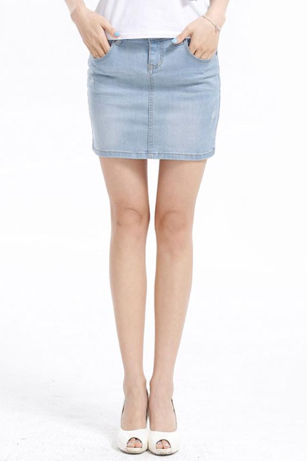 Must-Have Cool Girl Denim Skirt [FMCC0233] - PersunMall.com