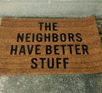home accessory doormat funny doormat black