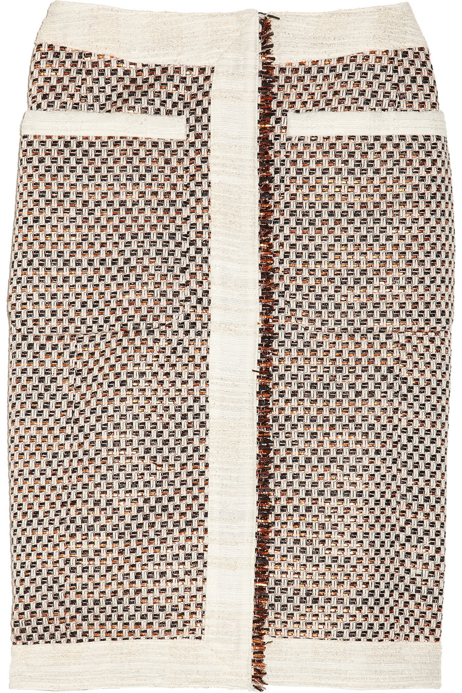 Cheetah metallic tweed pencil skirt | Altuzarra | THE OUTNET
