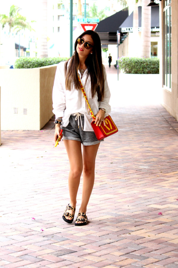 the material girl top shorts bag shoes jewels sunglasses