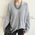 Angora Wool Blend Oversized Sweater, Gray , One Size - NANING9 | YESSTYLE
