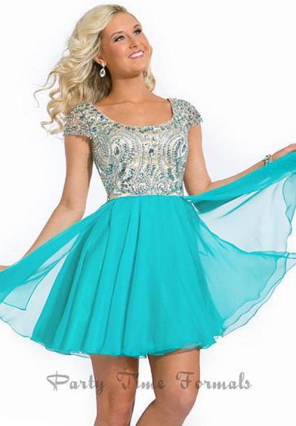 dress homecoming sparkle blue dress homecoming dress