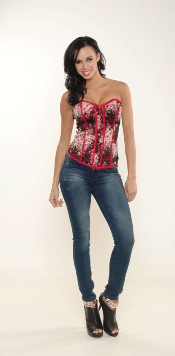 blouse corset top shoes jeans shirt top