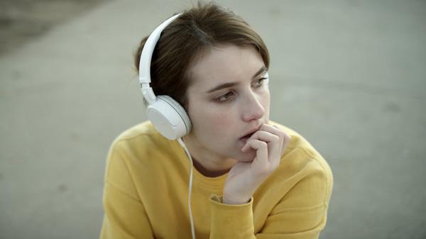 headphones white white headphones white earphones music emma roberts earphones hippie