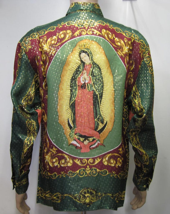 Vintage 90s Multicolored Green Our Lady of by silvaleathercrafters