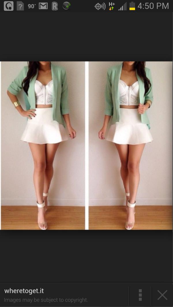 jacket same color as pic skirt