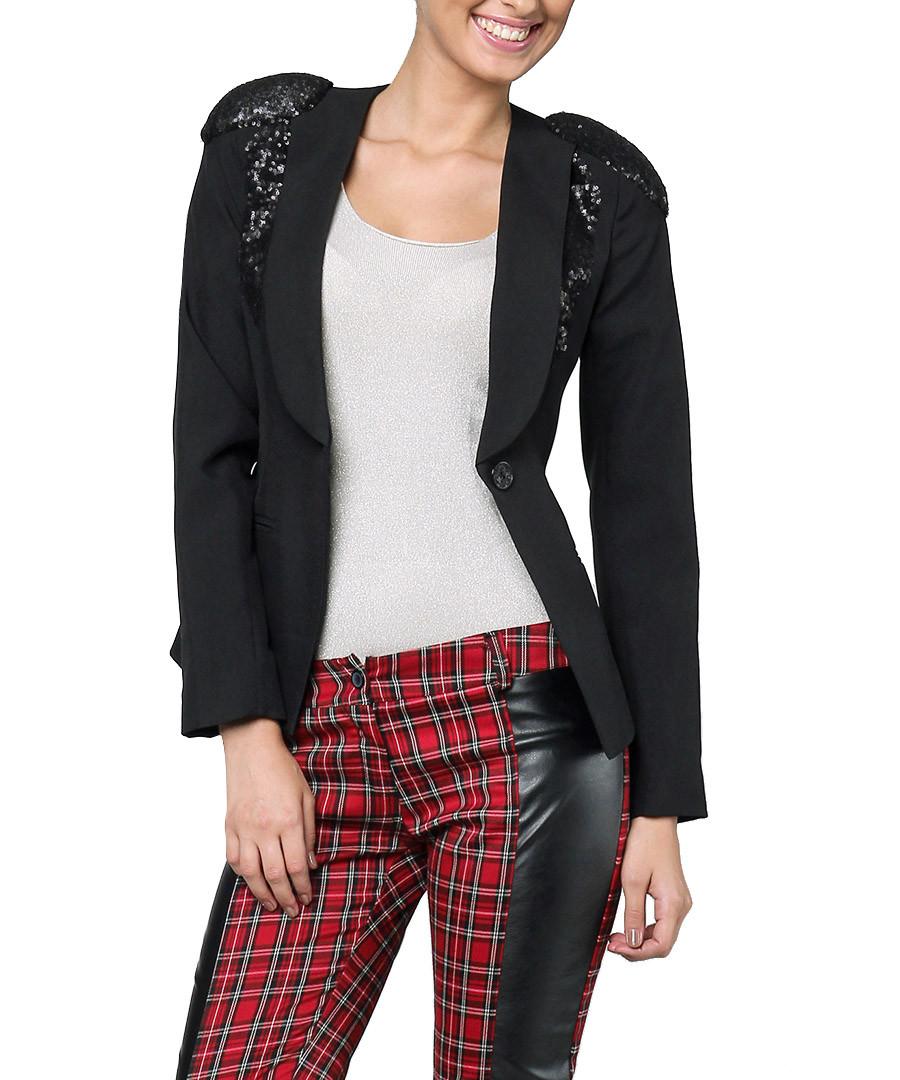 Carla Giannini Black sequin shoulder blazer, Designer Jackets Sale, Outlet , Secret Sales