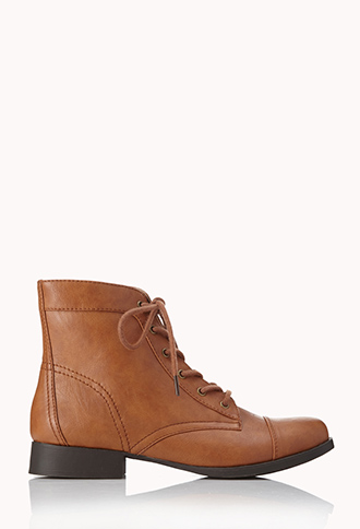 Prairie Chic Lace-Up Booties | FOREVER21 - 2062102442