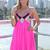 Pink Sequin Dress - Pink & Black Sequin Embellished | UsTrendy