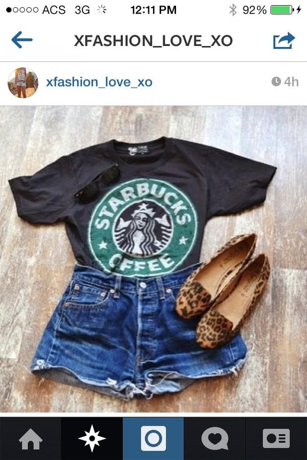 shirt starbucks coffee t-shirt