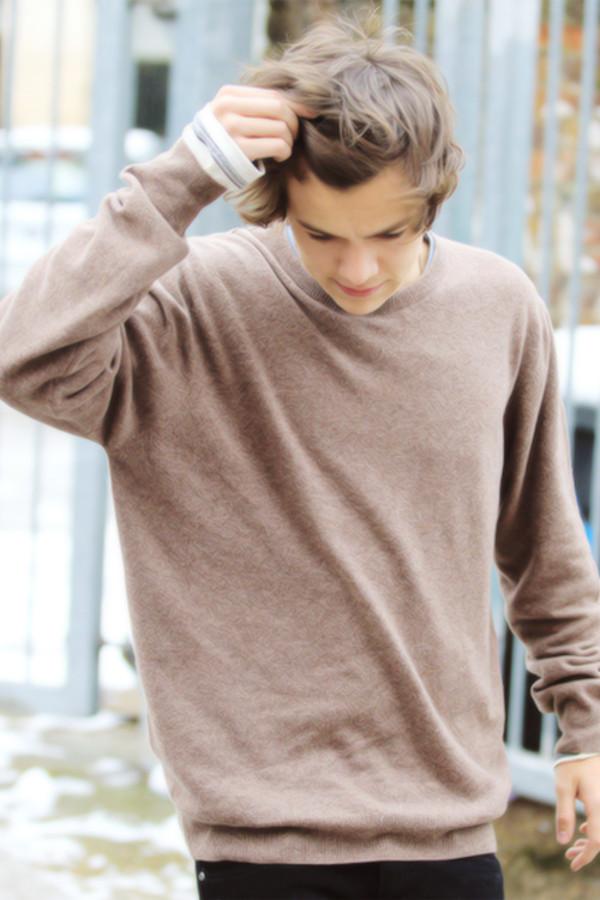 sweater tan harry styles
