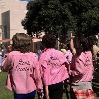 jacket pink ladies pink jacket grease rero pink leather jacket