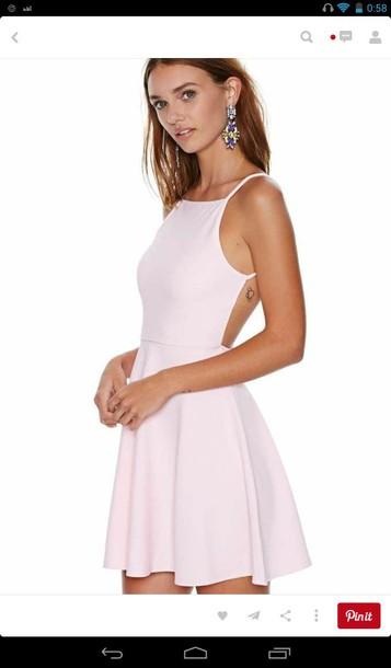dress pink dress baby pink dress backless dress short dress skater dress cute dress girly girly dress