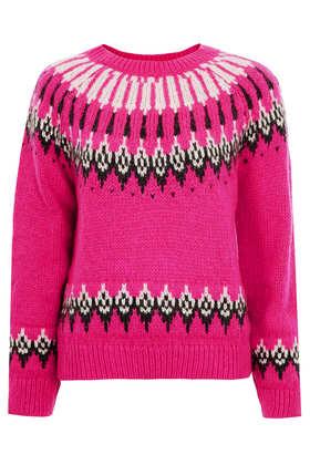Knitted Fairisle Jumper - Topshop