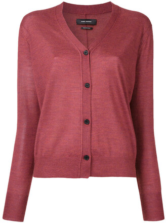 cardigan women silk red sweater