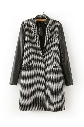 Lapel Long Woolen Coat [FEBK0169]- US$45.99 - PersunMall.com