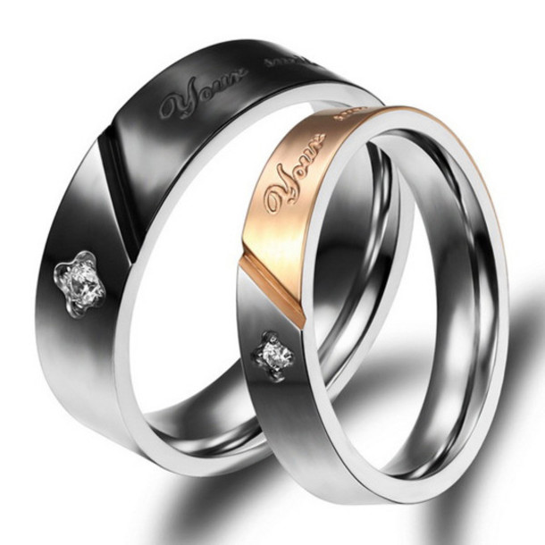 His And Hers Titanium Wedding Rings Ideas
