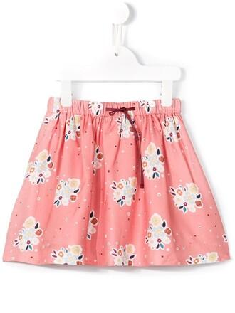 skirt girl toddler purple pink roses