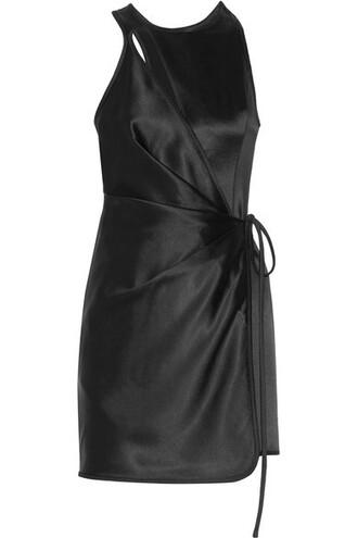 dress mini dress mini black satin