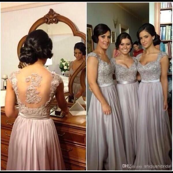 grey bridesmaid dresses chiffon bridesmaid dresses bridesmaid party dress gray bridesmaid prom dress prom dress