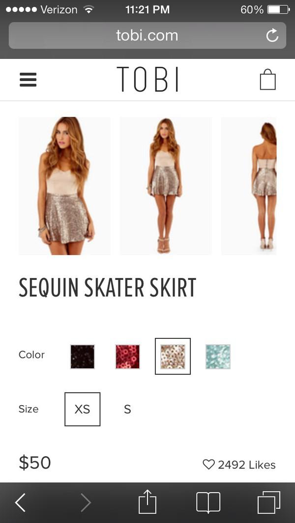 skirt gold tobi