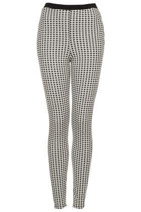 Gingham Jacquard Treggings - Leggings  - Clothing  - Topshop